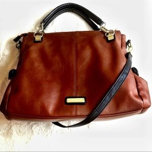 Steve Madden brown satchel.
